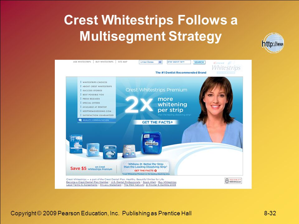 Crest Whitestrips Follows a Multisegment Strategy