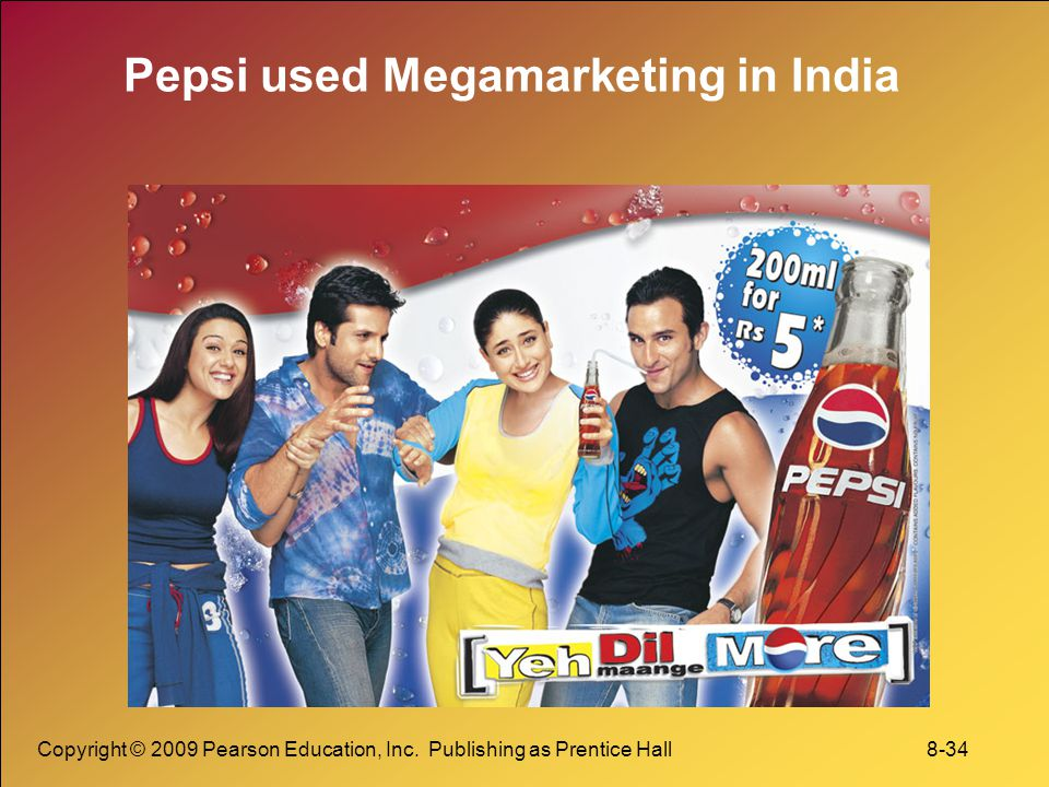 Pepsi used Megamarketing in India