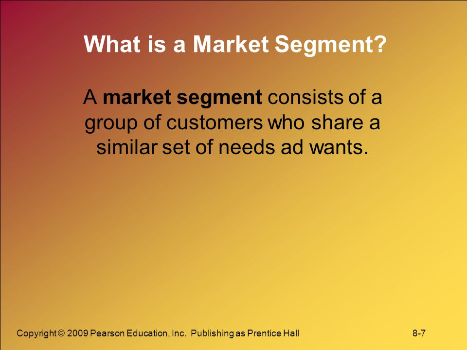 What is a Market Segment