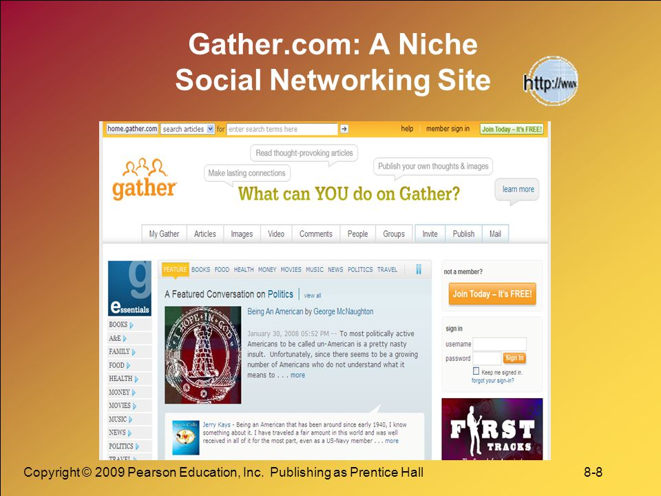 Gather.com: A Niche Social Networking Site