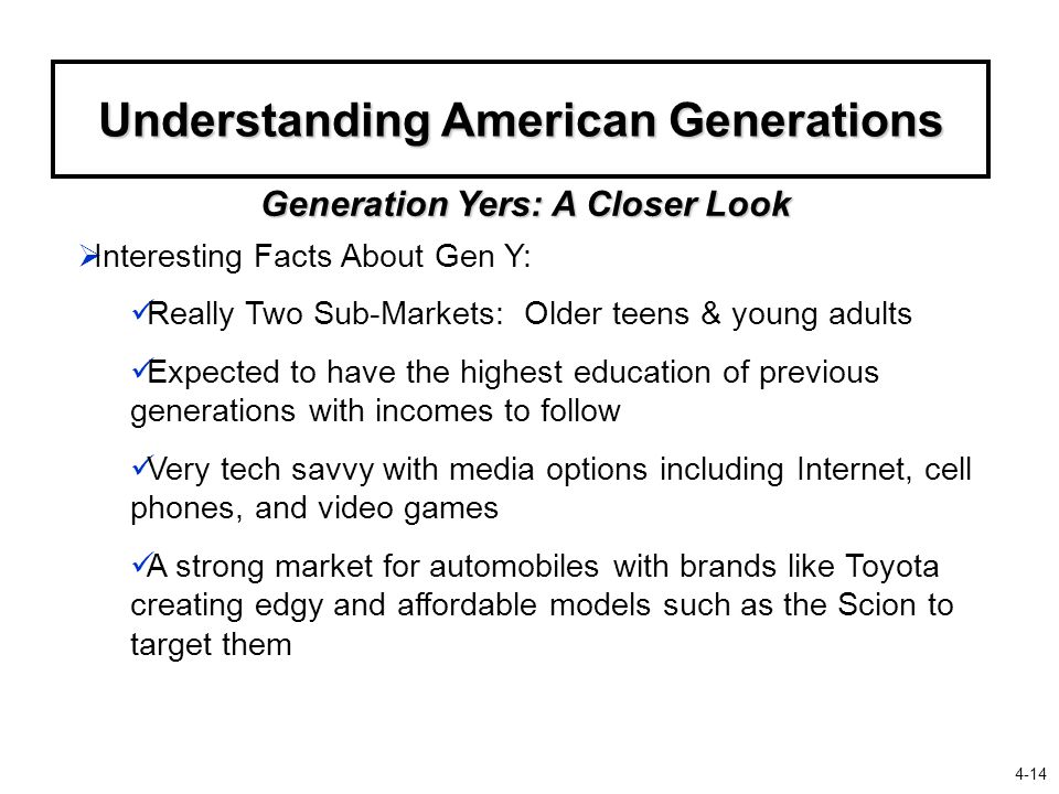 Understanding American Generations Generation Yers: A Closer Look