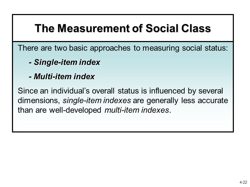 The Measurement of Social Class