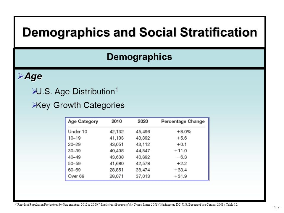 Demographics and Social Stratification
