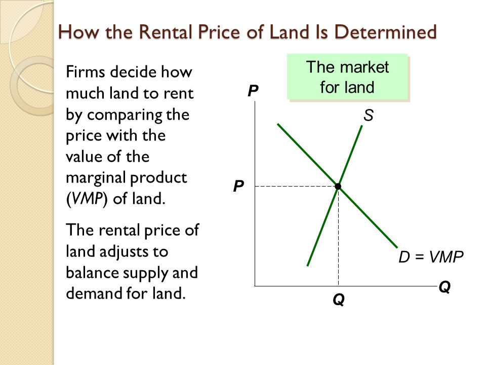 How the Rental Price of Land Is Determined