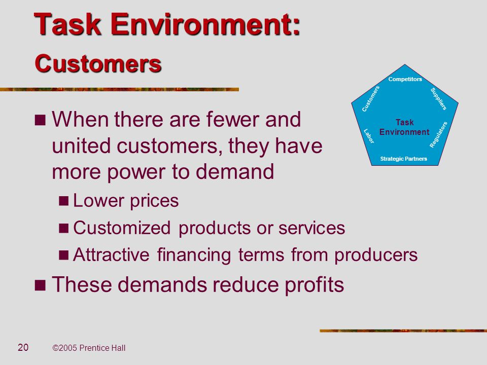 Task Environment: Customers