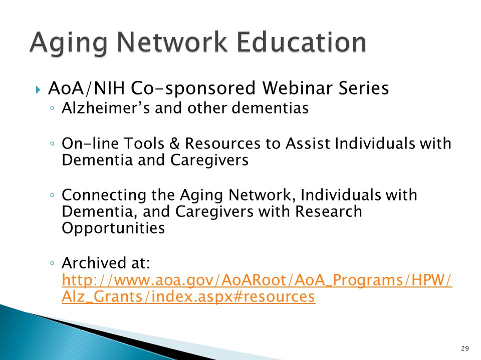 Aging Network Education