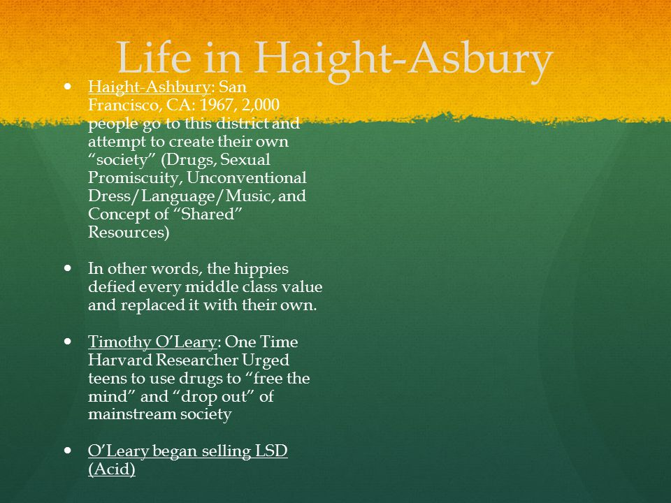 Life in Haight-Asbury