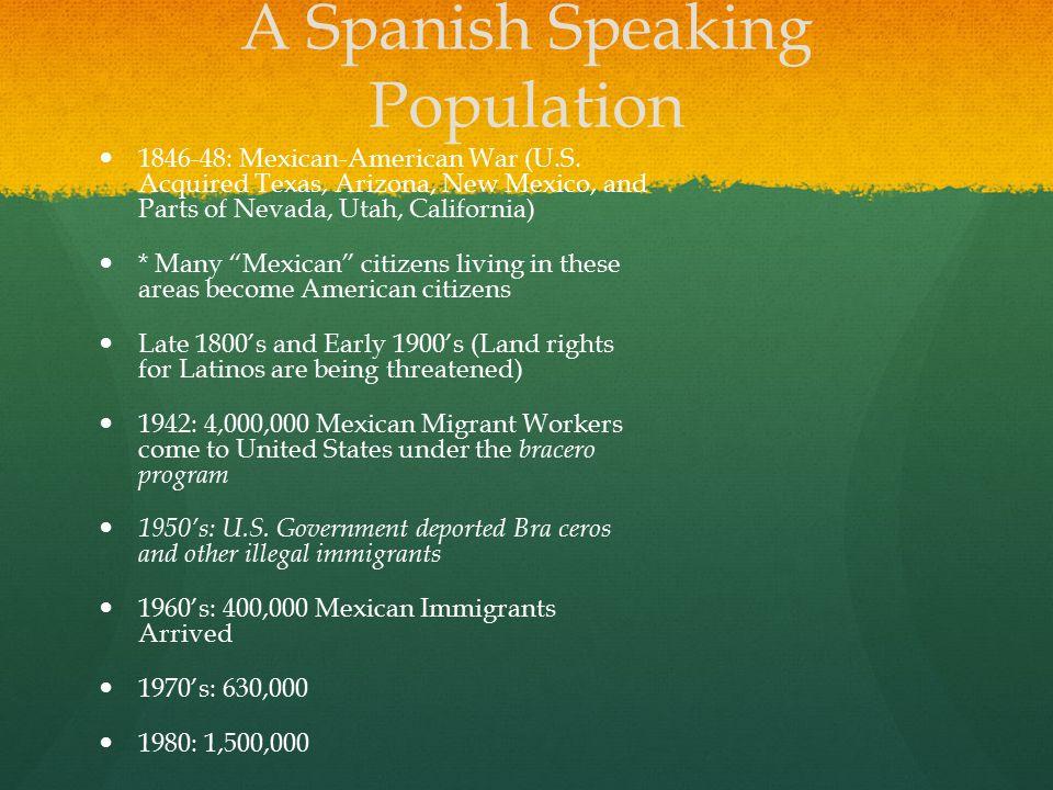 A Spanish Speaking Population