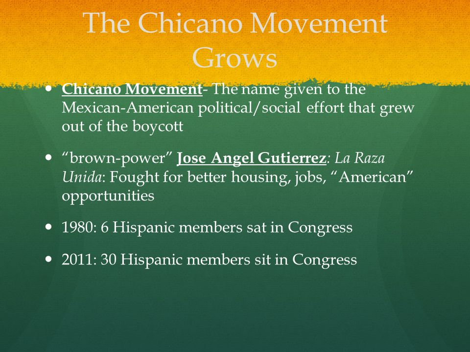The Chicano Movement Grows