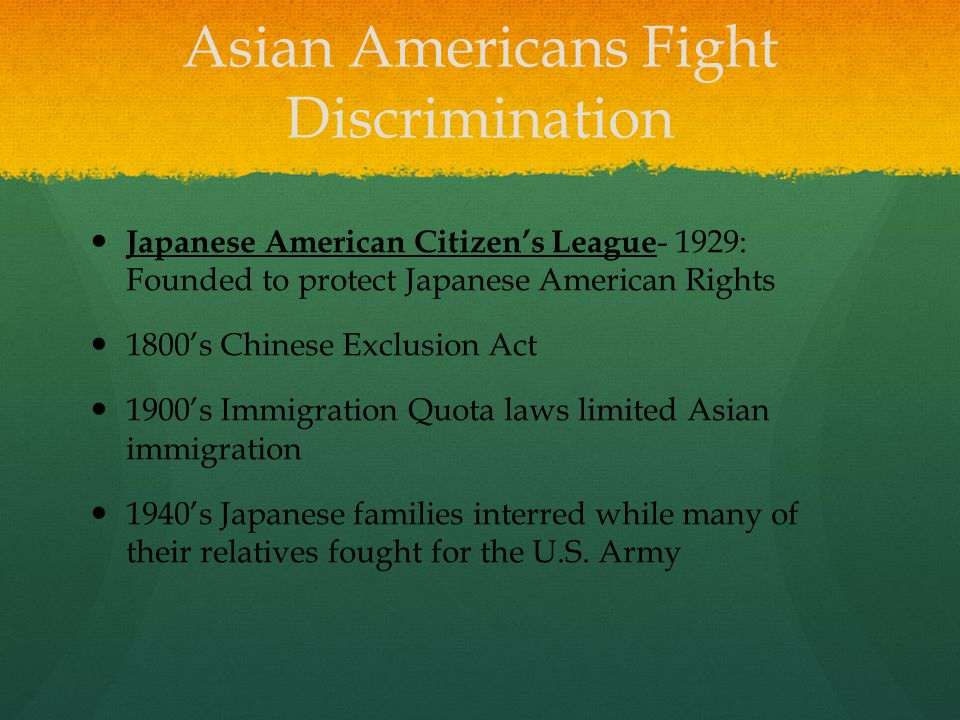 Asian Americans Fight Discrimination