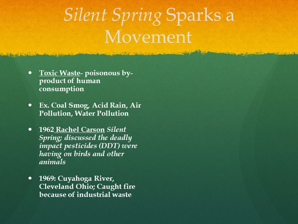 Silent Spring Sparks a Movement