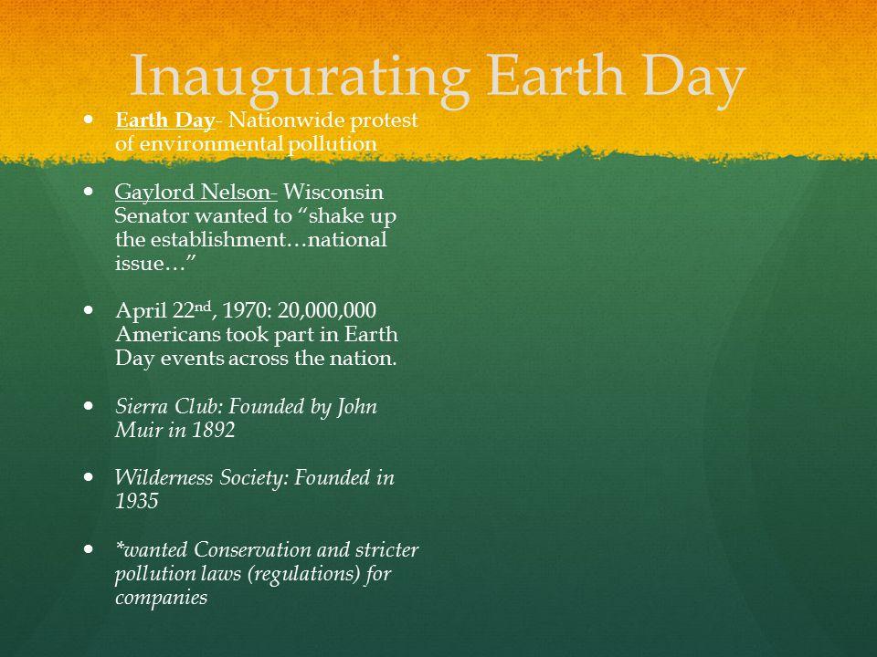 Inaugurating Earth Day