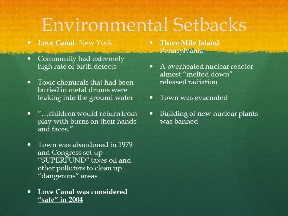 Environmental Setbacks