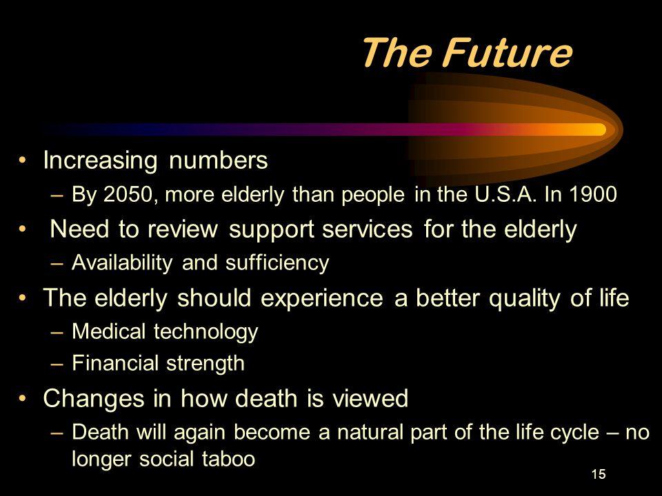 The Future Increasing numbers