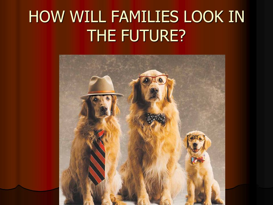 HOW WILL FAMILIES LOOK IN THE FUTURE