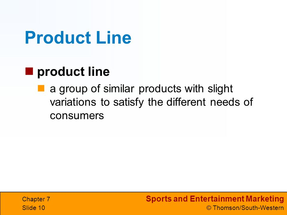 Product Line product line
