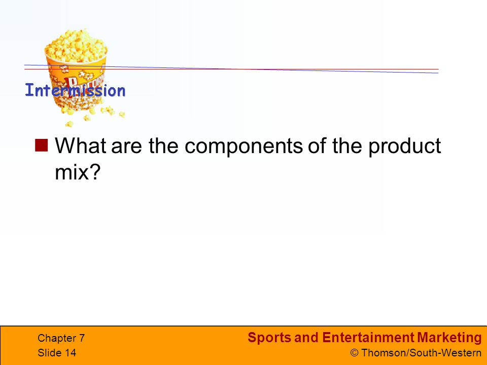 What are the components of the product mix