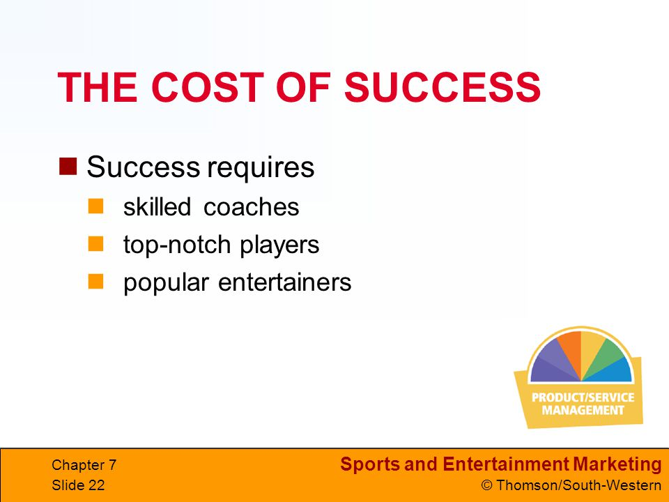 THE COST OF SUCCESS Success requires skilled coaches top-notch players