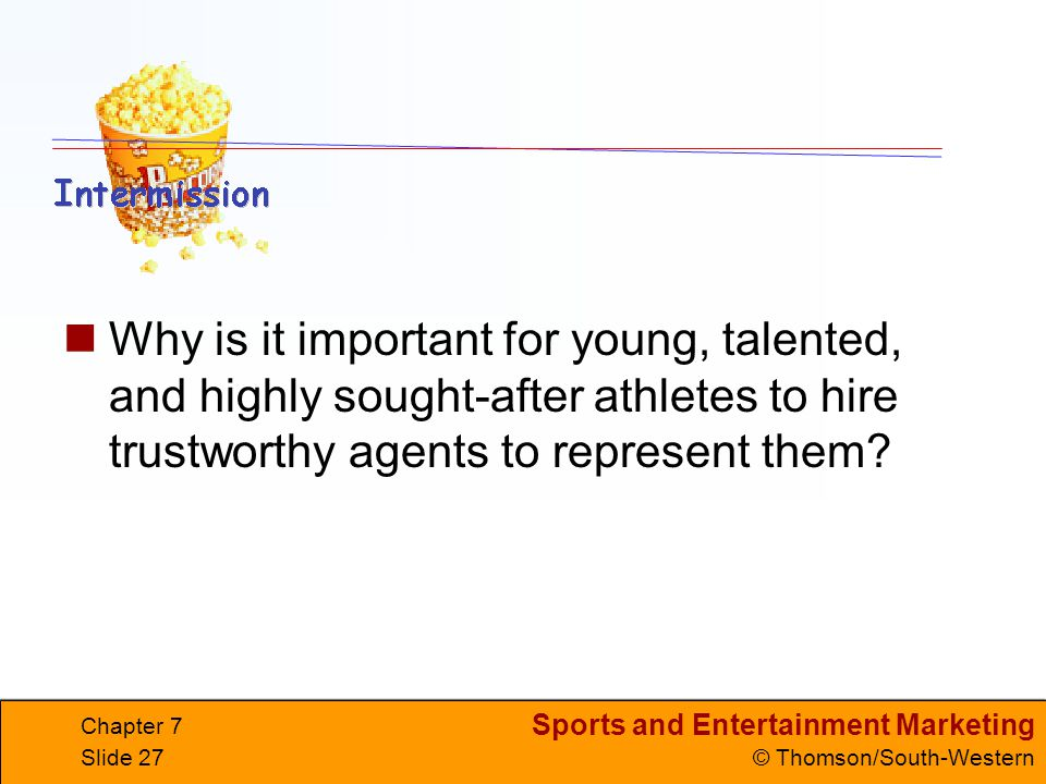 Why is it important for young, talented, and highly sought-after athletes to hire trustworthy agents to represent them