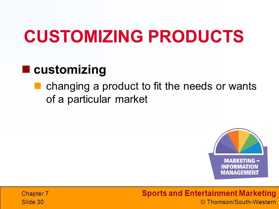 CUSTOMIZING PRODUCTS customizing