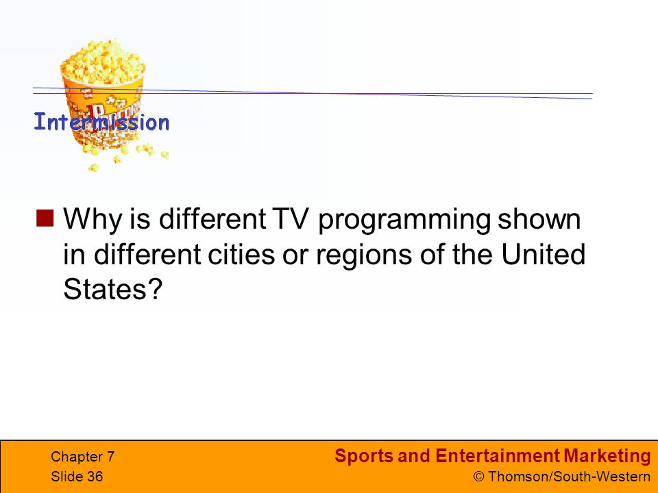 Why is different TV programming shown in different cities or regions of the United States