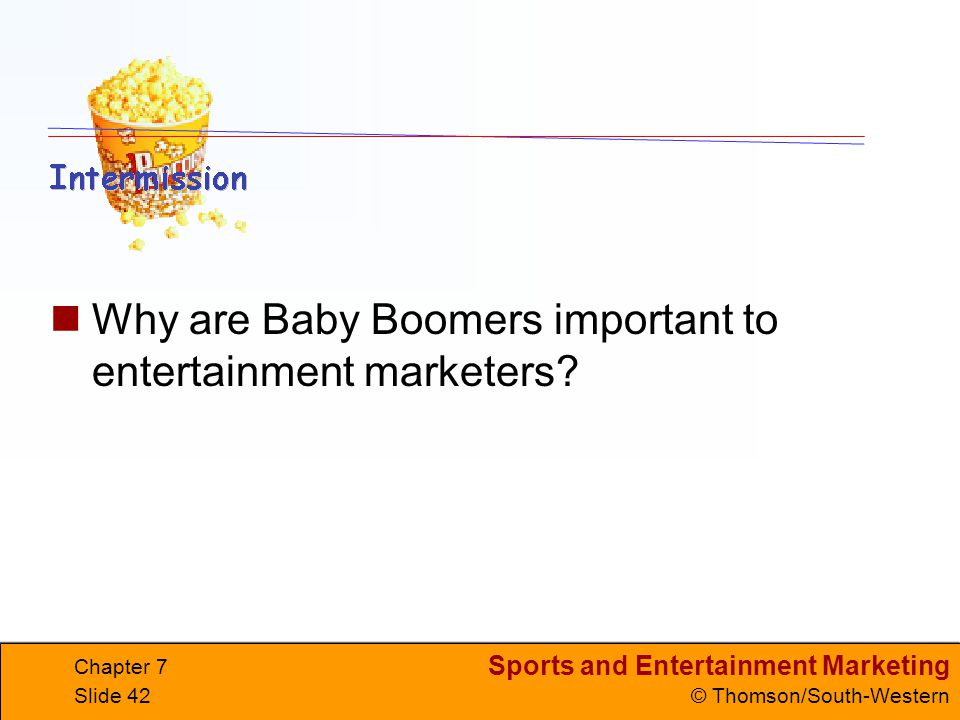 Why are Baby Boomers important to entertainment marketers