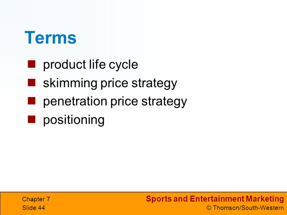 Terms product life cycle skimming price strategy