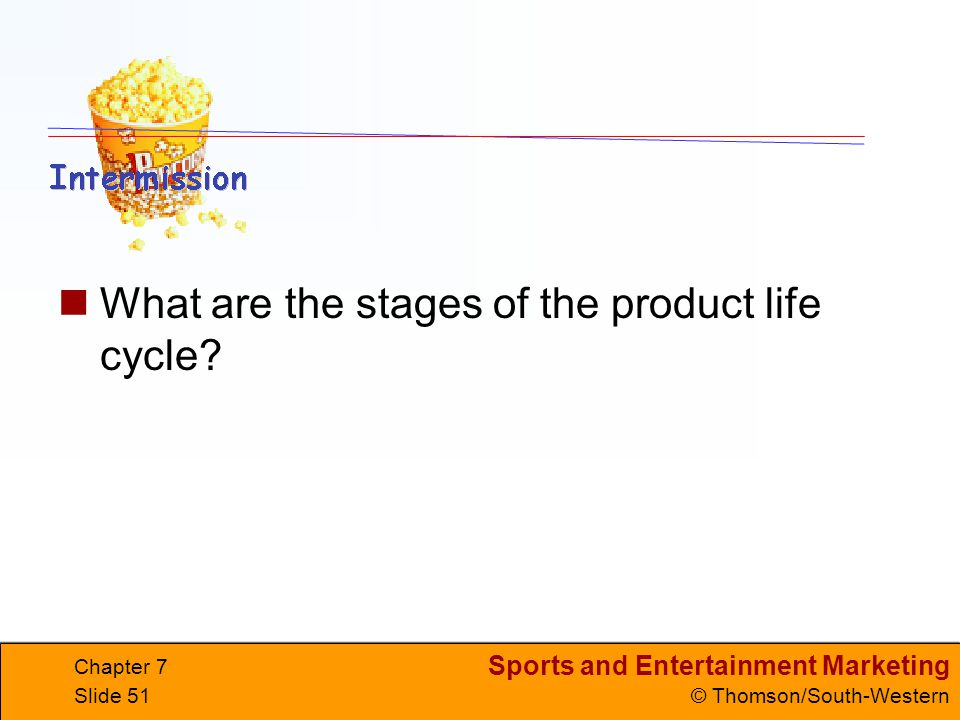 What are the stages of the product life cycle