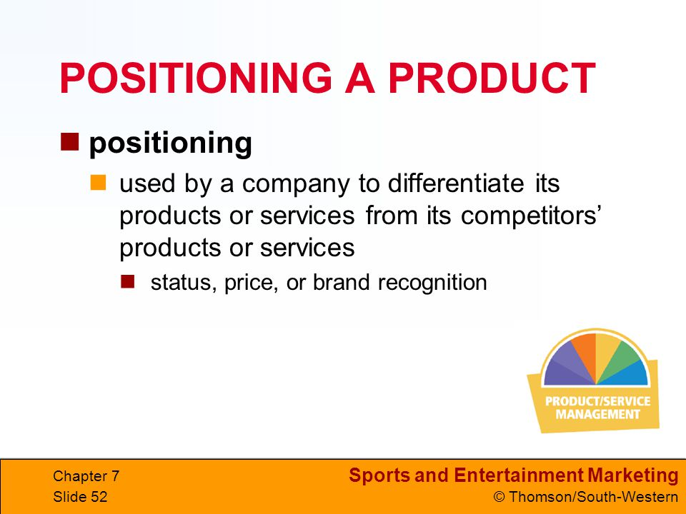 POSITIONING A PRODUCT positioning