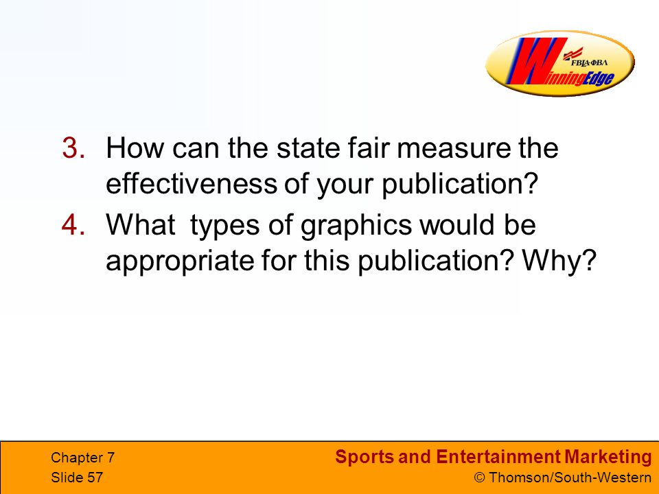 How can the state fair measure the effectiveness of your publication