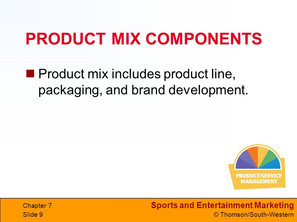 PRODUCT MIX COMPONENTS