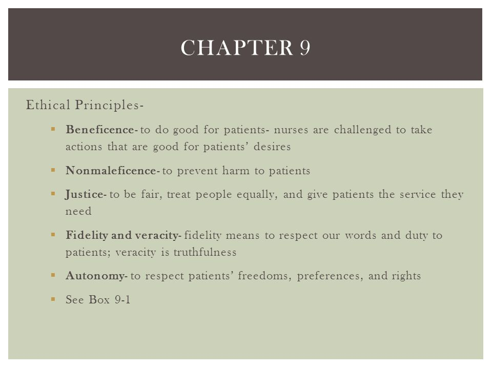 Chapter 9 Ethical Principles-