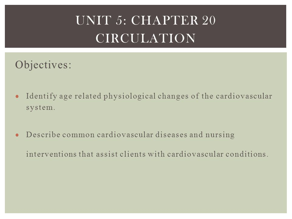 Unit 5: Chapter 20 Circulation