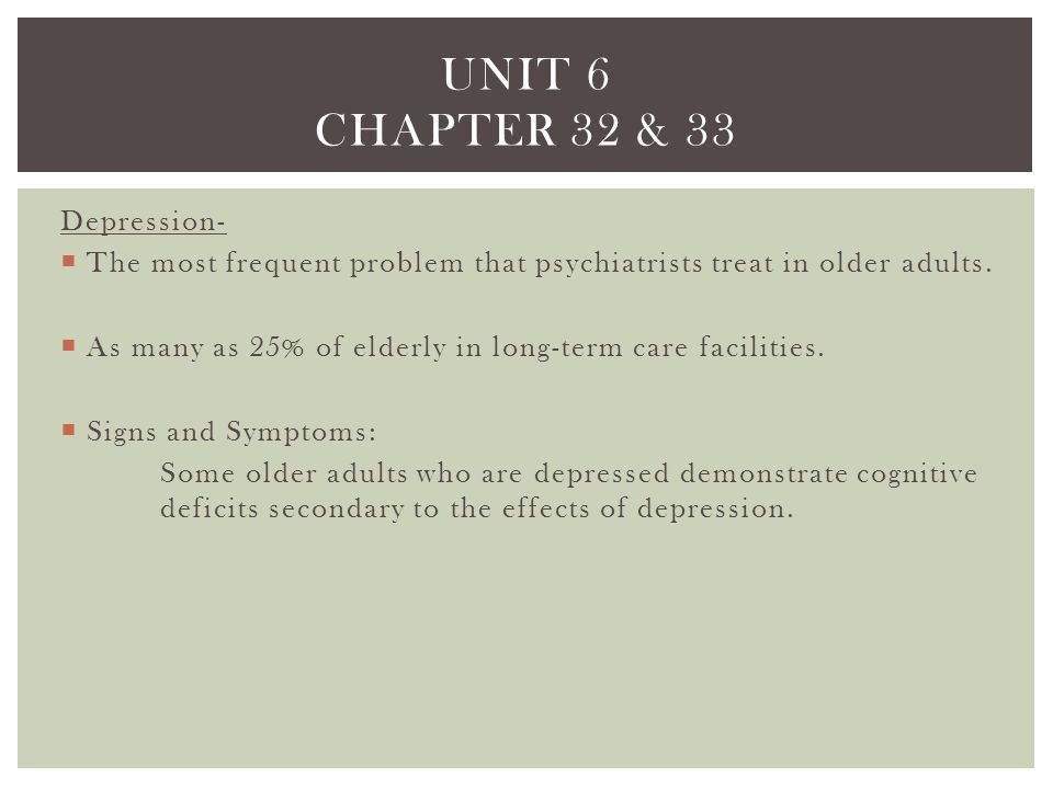 Unit 6 chapter 32 & 33 Depression-