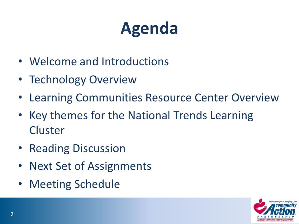 Agenda Welcome and Introductions Technology Overview
