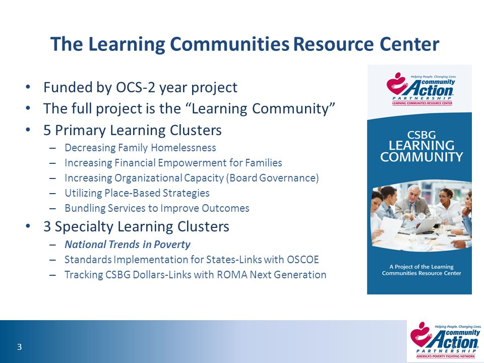 The Learning Communities Resource Center