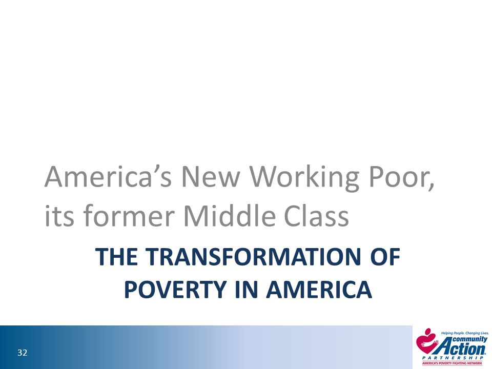 The Transformation of poverty in America