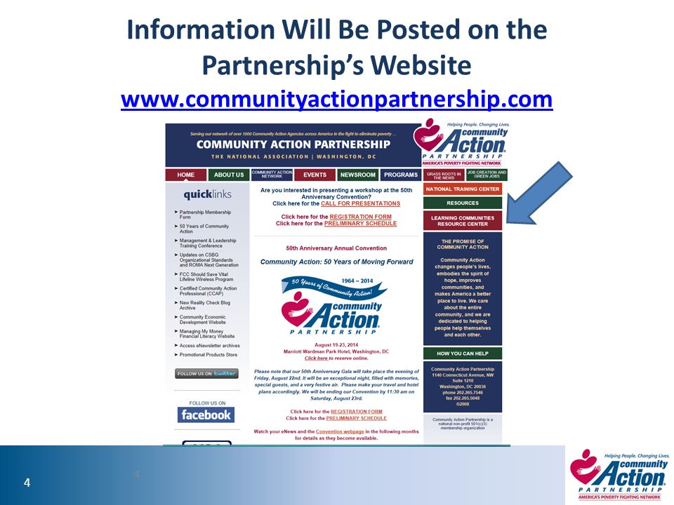 Information Will Be Posted on the Partnership's Website www