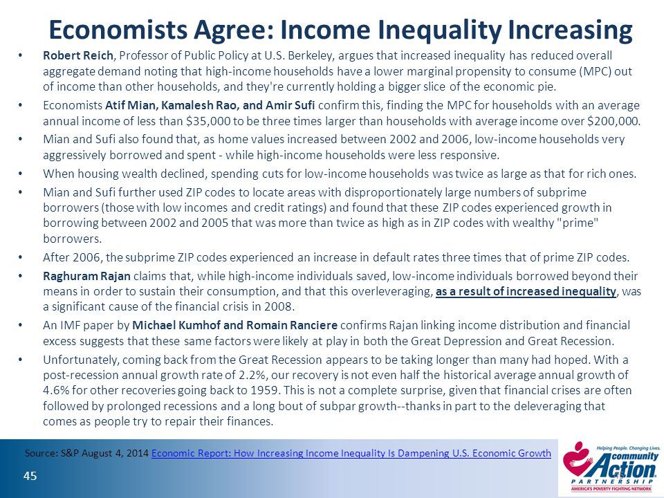 Economists Agree: Income Inequality Increasing