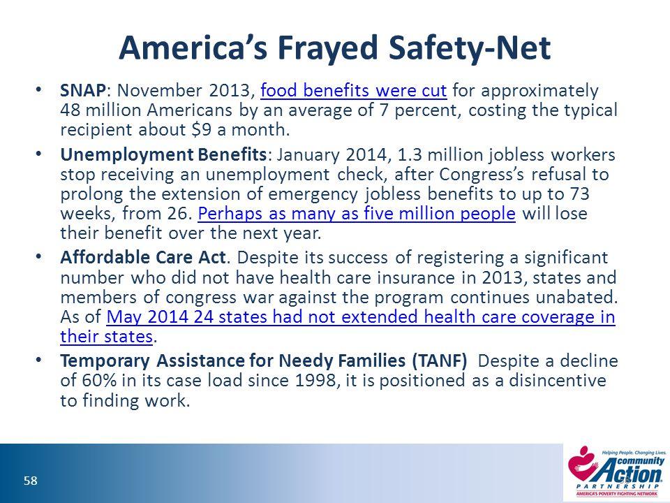 America's Frayed Safety-Net