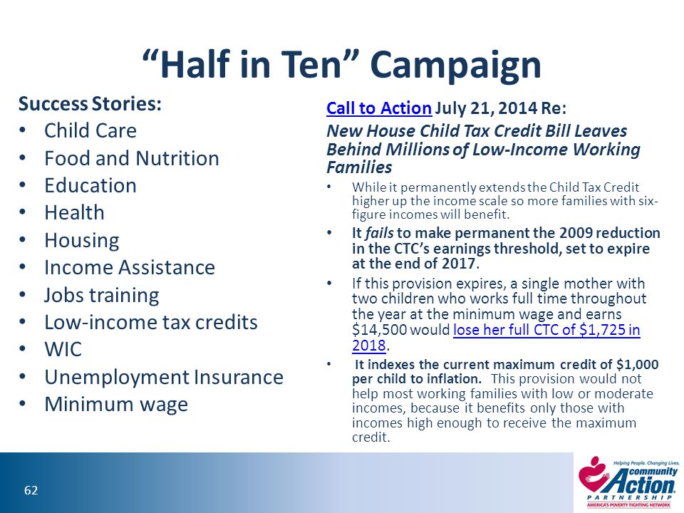 Half in Ten Campaign Child Care Food and Nutrition Education Health