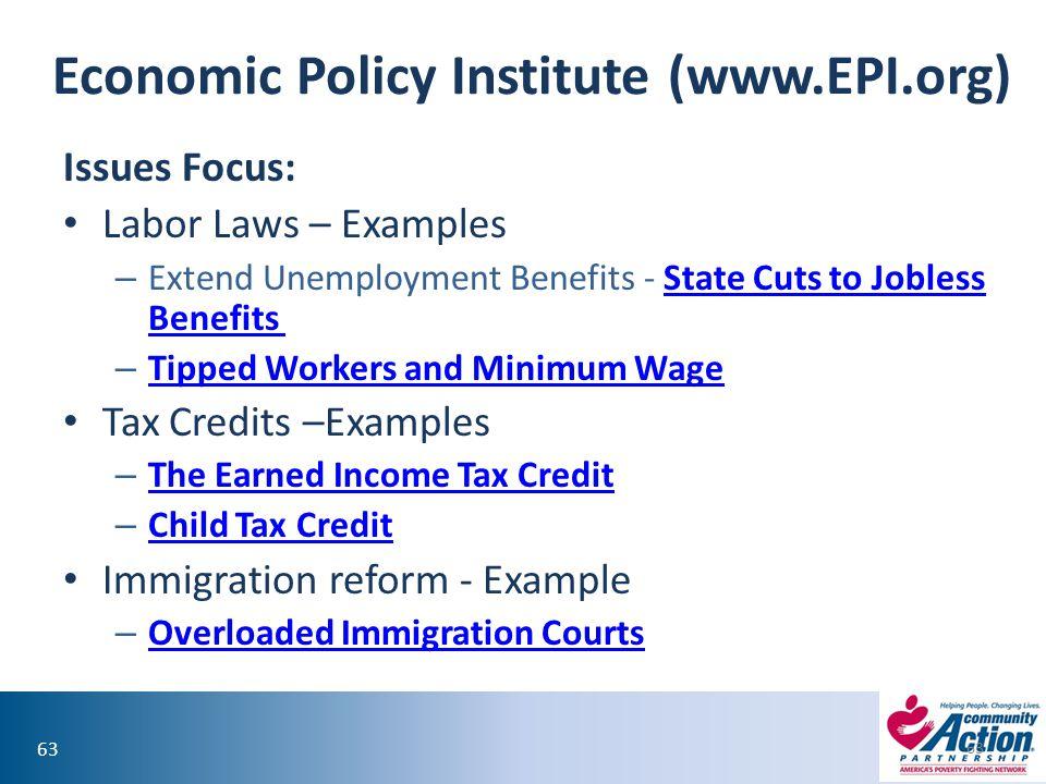 Economic Policy Institute (www.EPI.org)