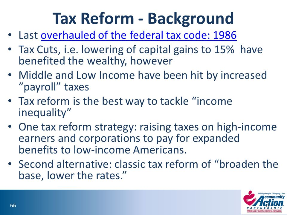 Tax Reform - Background