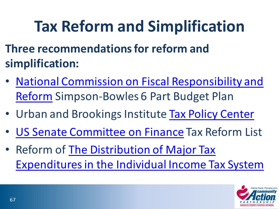Tax Reform and Simplification