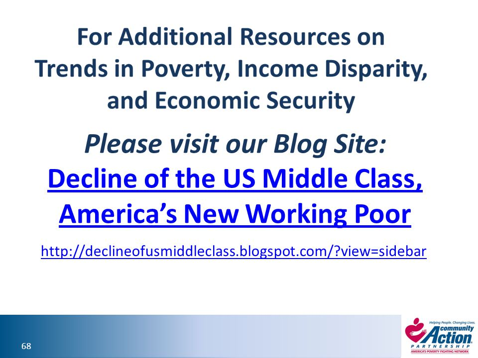 Please visit our Blog Site: Decline of the US Middle Class, America's New Working Poor