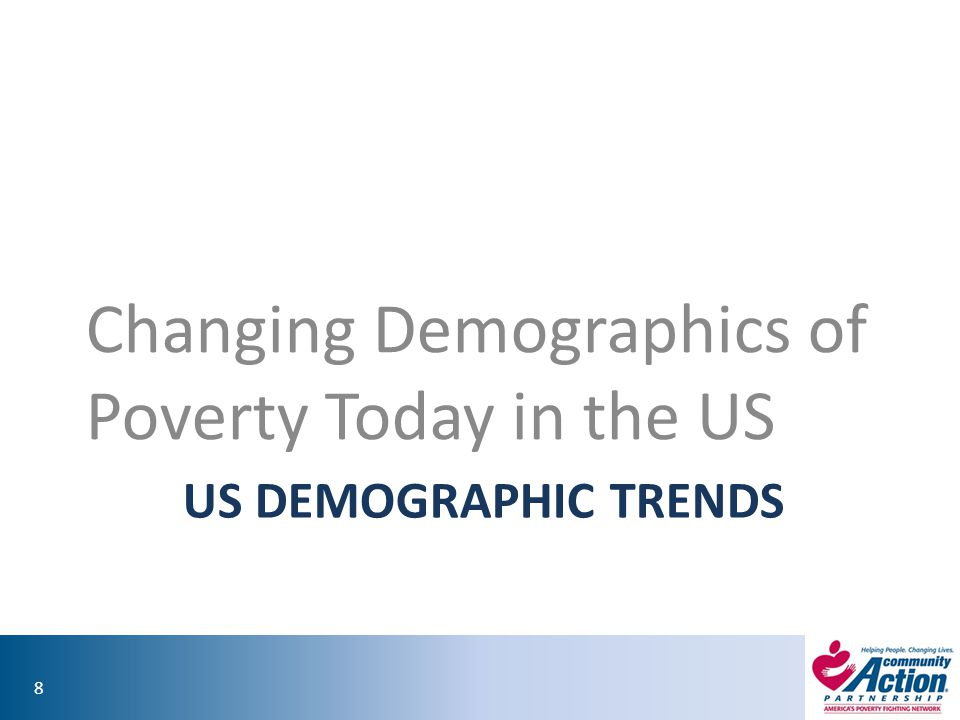 Changing Demographics of Poverty Today in the US