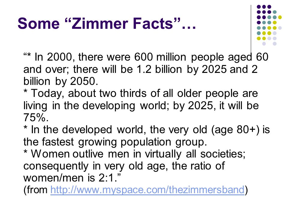 Some Zimmer Facts …