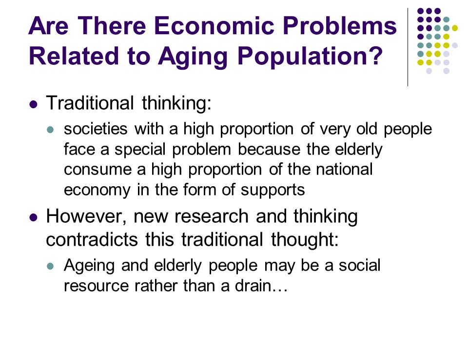 4 Global Economic Issues of an Aging Population