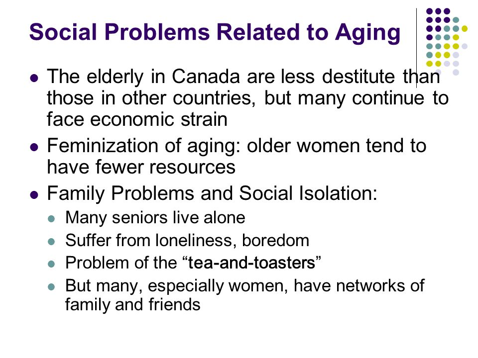 Social Problems Related to Aging