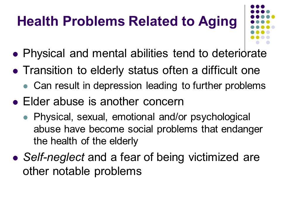 Health Problems Related to Aging